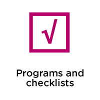 Programs and checklists